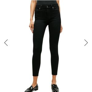 7 for all mankind kimmie crop black